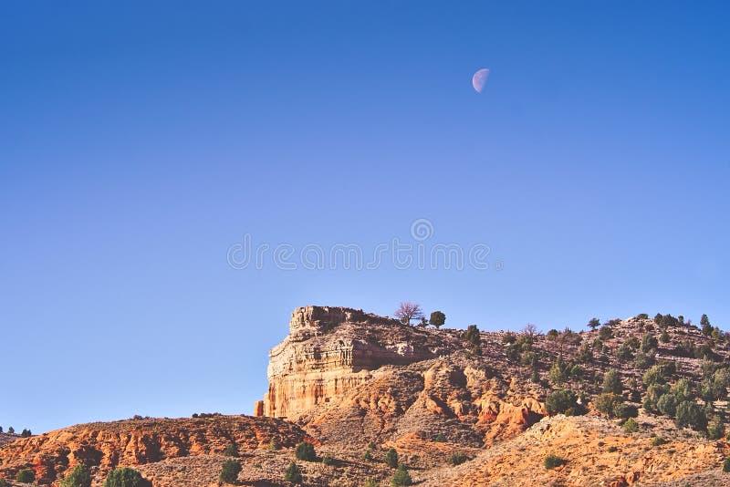 Desert landscape near Teruel city, Aragon, Spain stock images