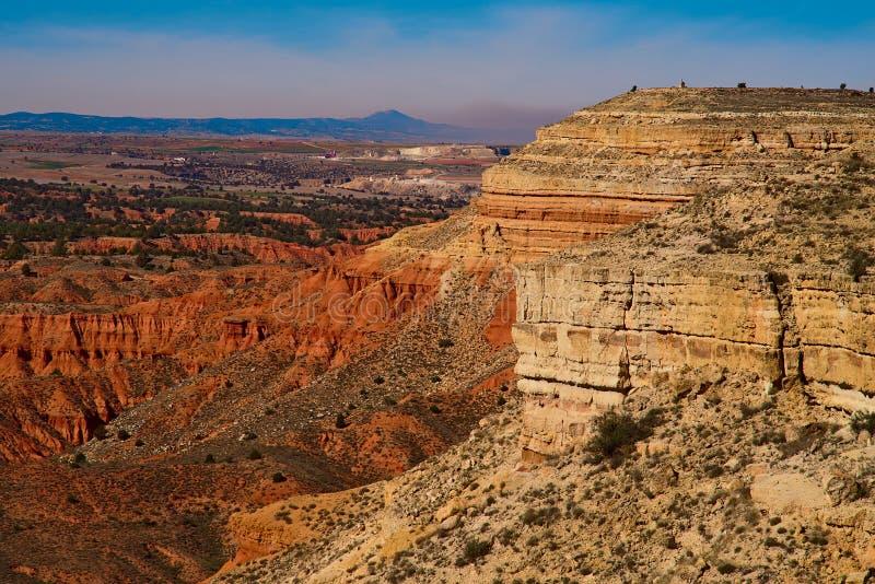 Desert landscape near Teruel city, Aragon, Spain stock photos
