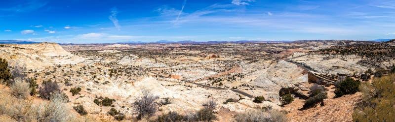 Desert Landscape Panorama in Southwestern Utah, USA stock image
