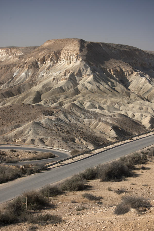 Desert landscape with roads royalty free stock photos