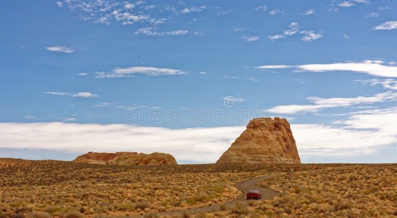 Rock mesa, Canyon Point, Utah stock photo