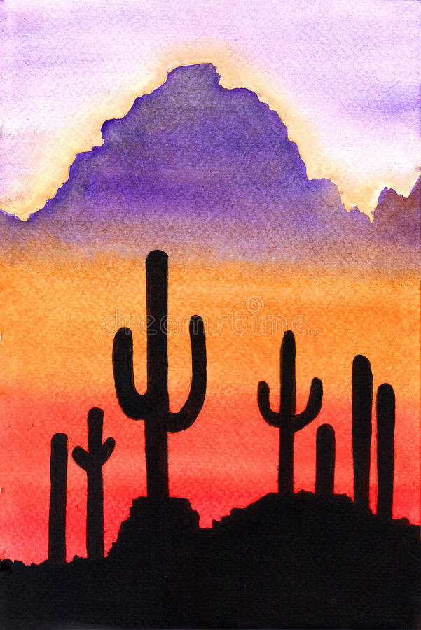Desert landscape royalty free illustration