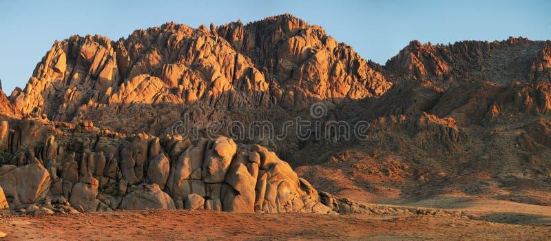 Desert landscapes of Mongolia. Red rocks stock photography