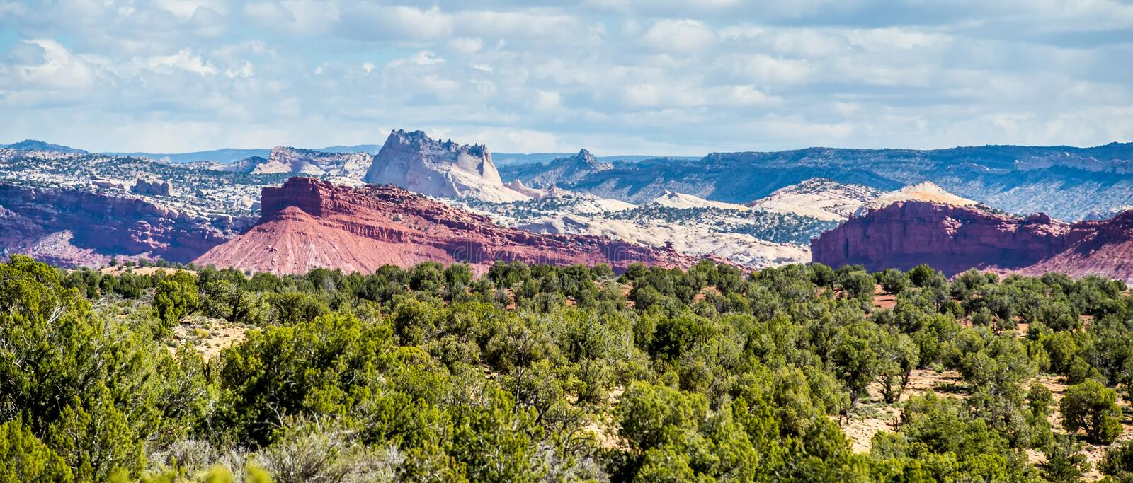 Desert landscapes utah with sandy mountains royalty free stock photography