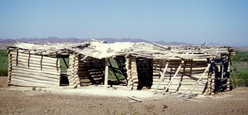 Desert Log Cabin Royalty Free Stock Photos