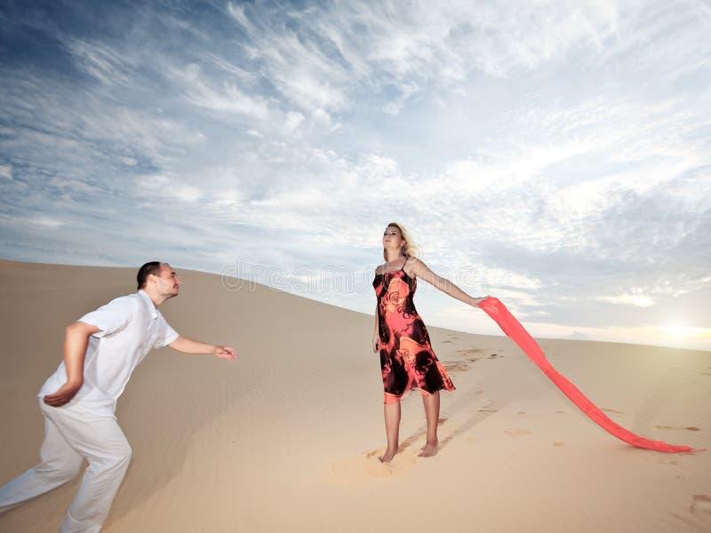 Download Desert love stock image. Image of running, clothes, desert - 12449275