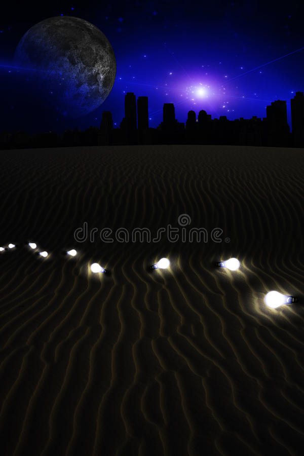 Download Desert Metropolis stock illustration. Image of freedom - 14089591