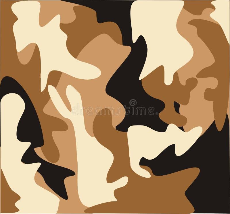 Desert military camouflage royalty free illustration
