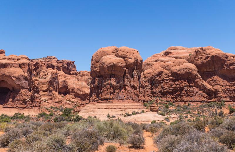 Desert landscape of Utah, USA. Nature in Arches National Park stock photo