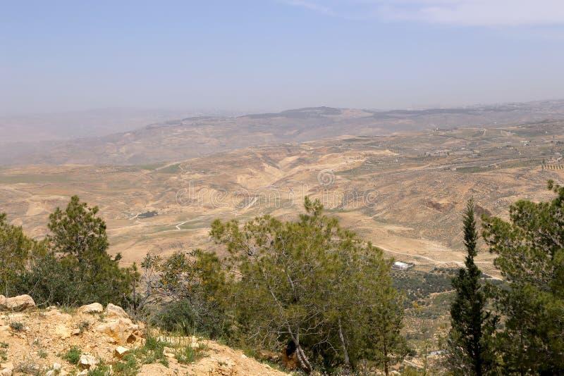 Desert mountain landscape (aerial view), Jordan, Middle East stock images