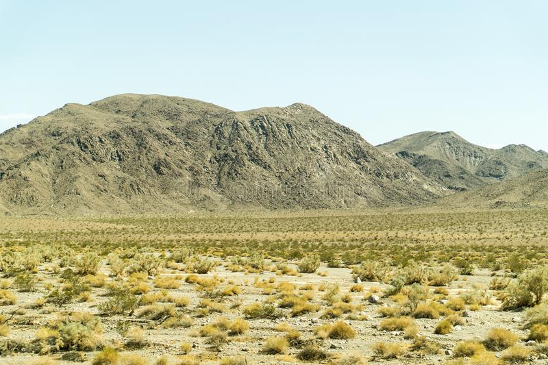 Desert and mountain landscape view in Nevada. Desert and mountain landscape view in Nevada, United States royalty free stock images