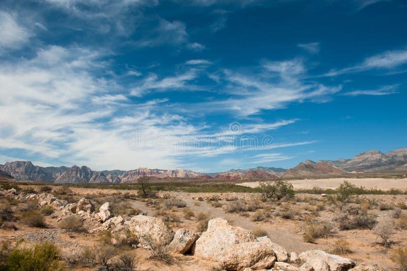 Desert and Mountain stock image
