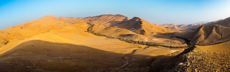 Desert mountain ridge cliffs, south Israel landscape. Mountain ridge cliffs scenic landscape view, Arif crater Negev desert, travel Israel nature stock image