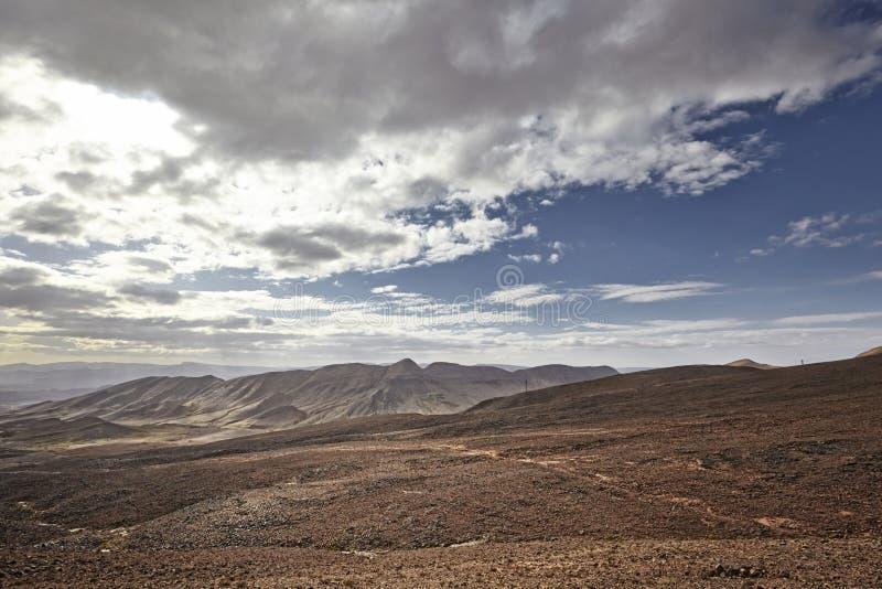 Desert mountain scenery. Moroccan desert scenic landscape royalty free stock images