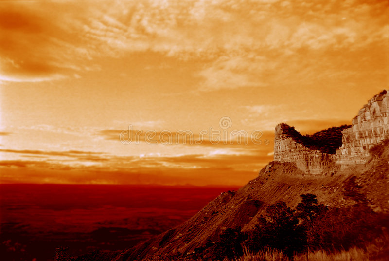 Desert mountain sunset royalty free stock image