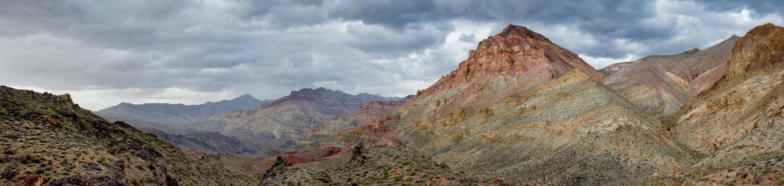Desert Mountains During a Spring Rain stock images