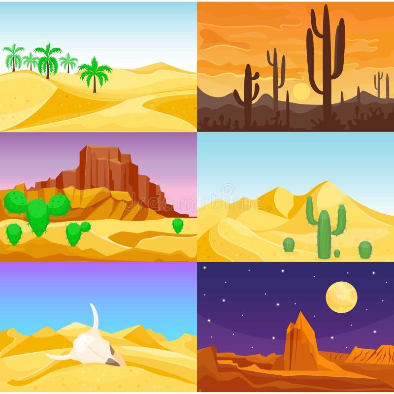 Free Desert Mountains Sandstone Wilderness Landscape Background Travel Vector Illustration. Stock Image - 93500471