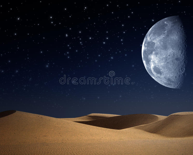Download Desert on the night stock illustration. Image of nobody - 26763688