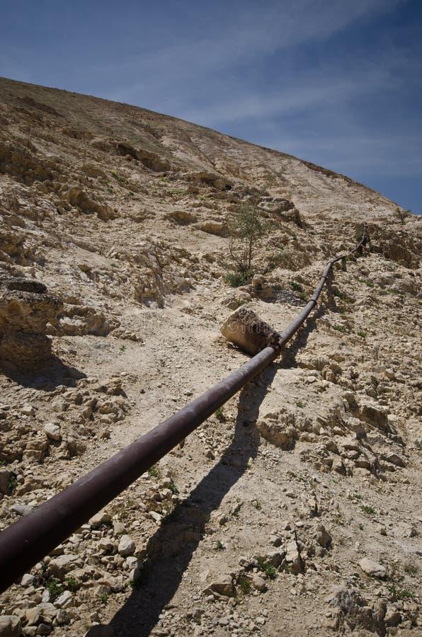 Desert pipeline royalty free stock photo