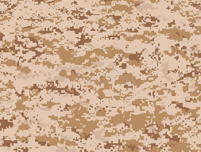 Desert pixels camouflage stock illustration