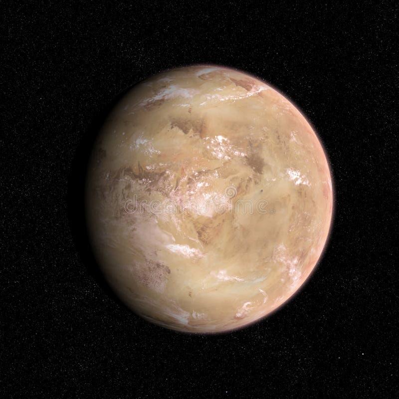 Desert planet. stock photo