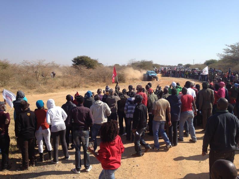 Desert race stock image