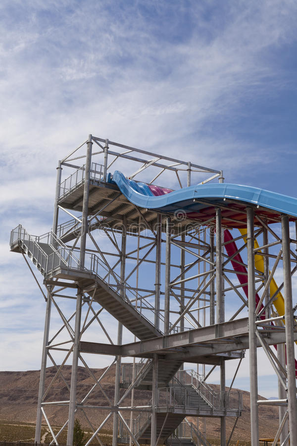 Desert Racers, Rainbow Slide At Wet N Wild, In Las Vegas, NV On Editorial Stock Image