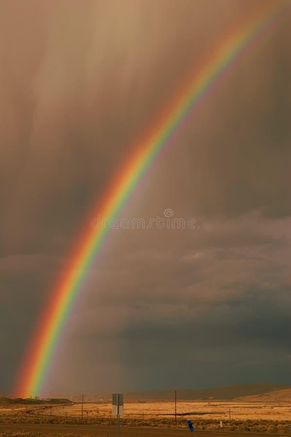 Download Desert Rainbow stock image. Image of colorful, rain, landscape - 2266917