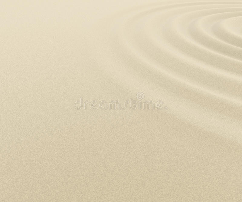 Desert/Ripple. Sand of the desert. Ripples spread. Ring to expand. Feels like a wave. Beautiful pattern. The same interval. Affect vector illustration