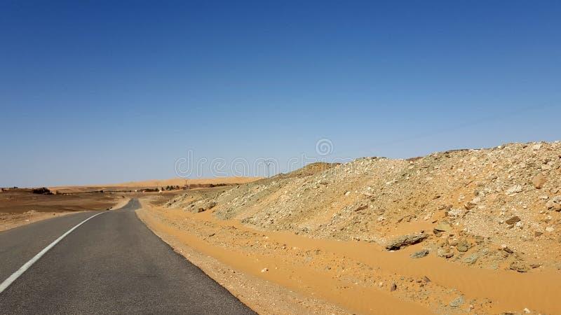 On the desert road stock image