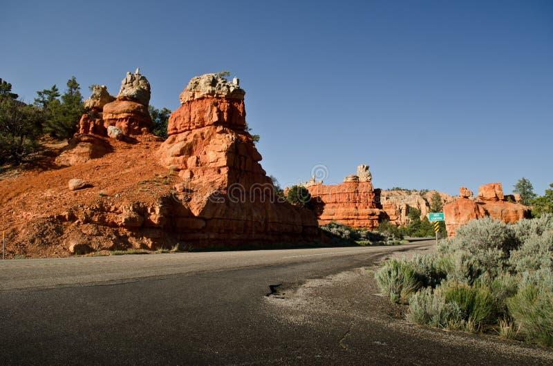 Desert road in Dixie National Forest