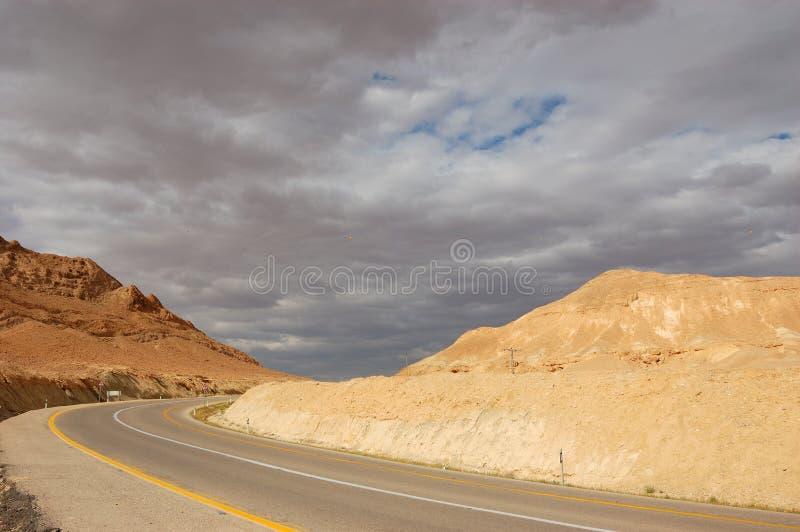 Desert Road, Israel stock photo