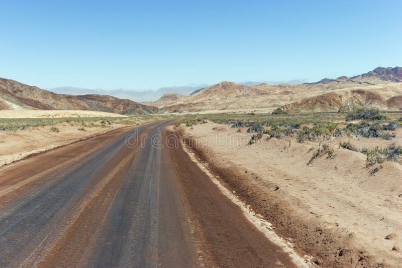 Desert road through northern Chile, mining region royalty free stock photos