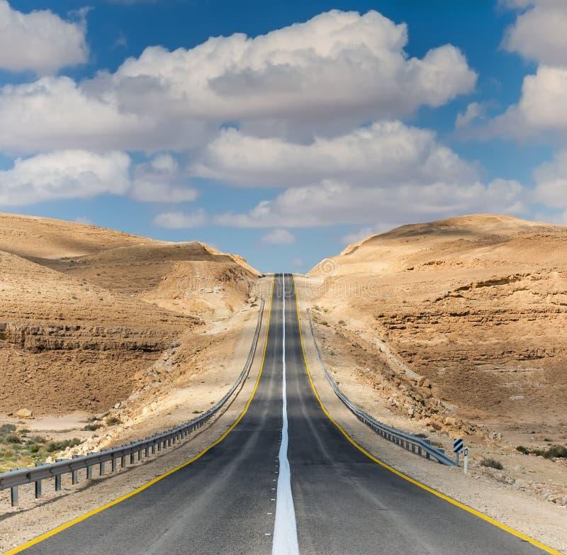 Desert road royalty free stock photos