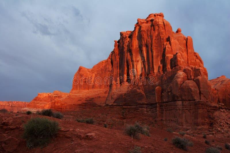 Desert Rocks Sunrise Royalty Free Stock Photography