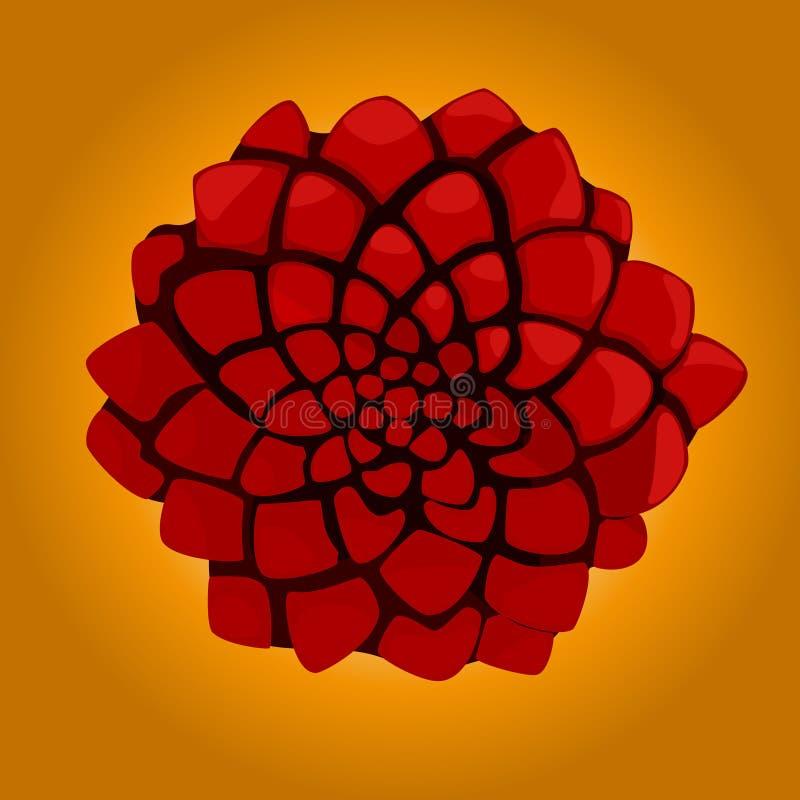 Desert's Rose. Design of a geometric flower vector illustration