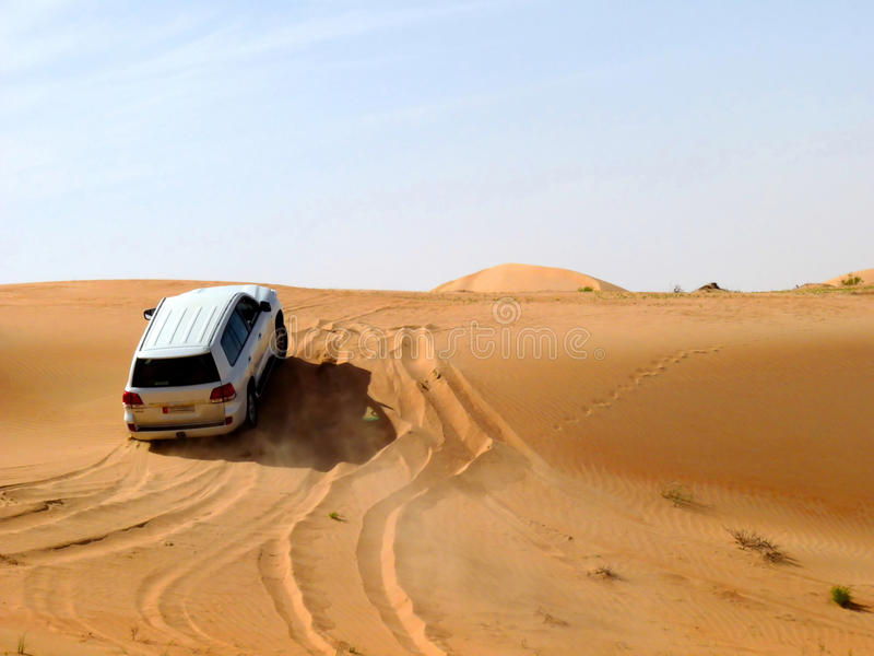 Desert Safari. 4x4 Desert Safari Adventure & Dune Bashing royalty free stock photo