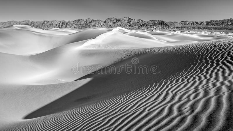 Desert Sand dunes in Black and White no2 stock photo
