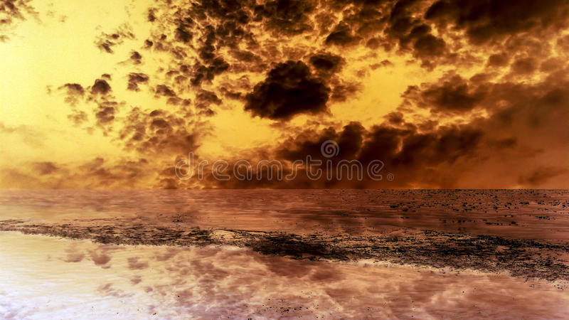 Desert and sand storm dark cloud hot drought. Desert and sand storm dark cloud hot and drought stock photo