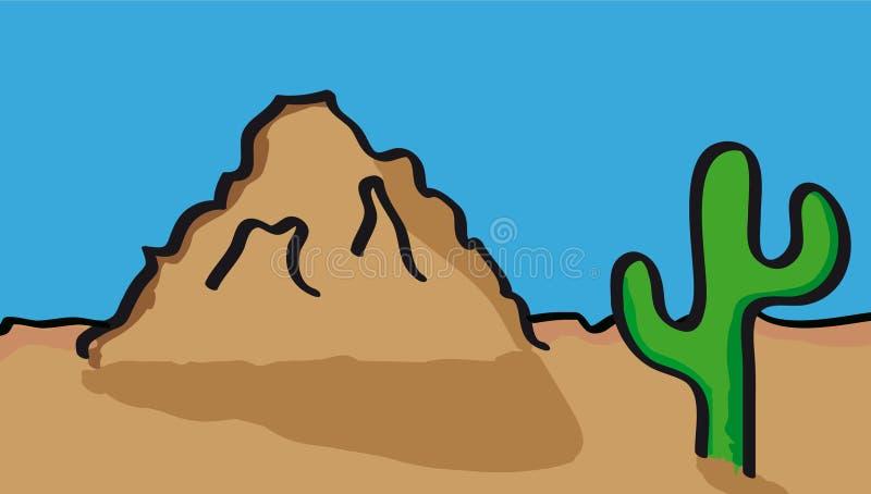 Desert scenery stock illustration