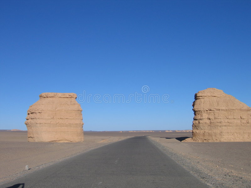 The desert scenery stock photo