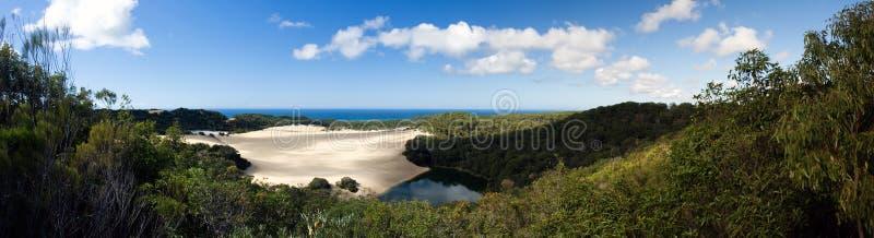 Desert See-Panorama lizenzfreie stockfotografie