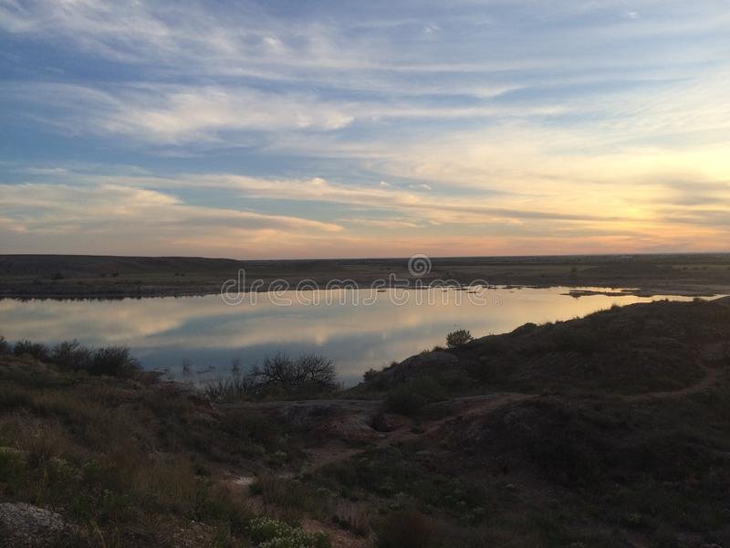 Desert sky. New Mexico sky royalty free stock image