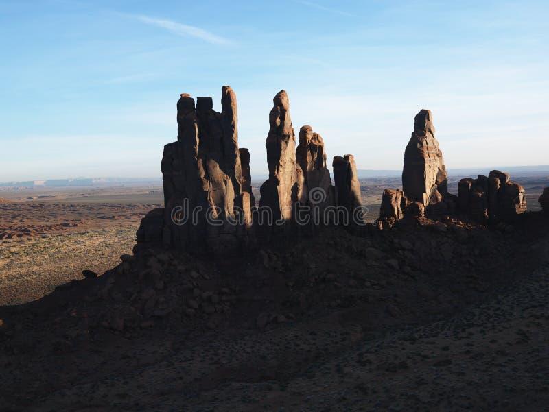 Desert southwest landscape. Desert southwest landscape with buttes in Monument Valley, Utah stock photography