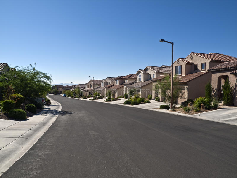 Download Desert Suburbia editorial stock image. Image of neighborhood - 15622494