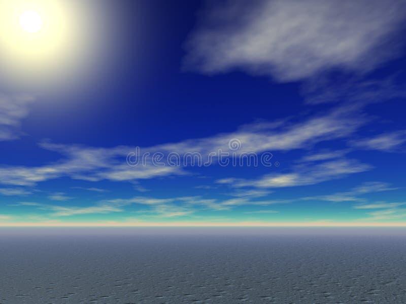 Desert Sun royalty free illustration
