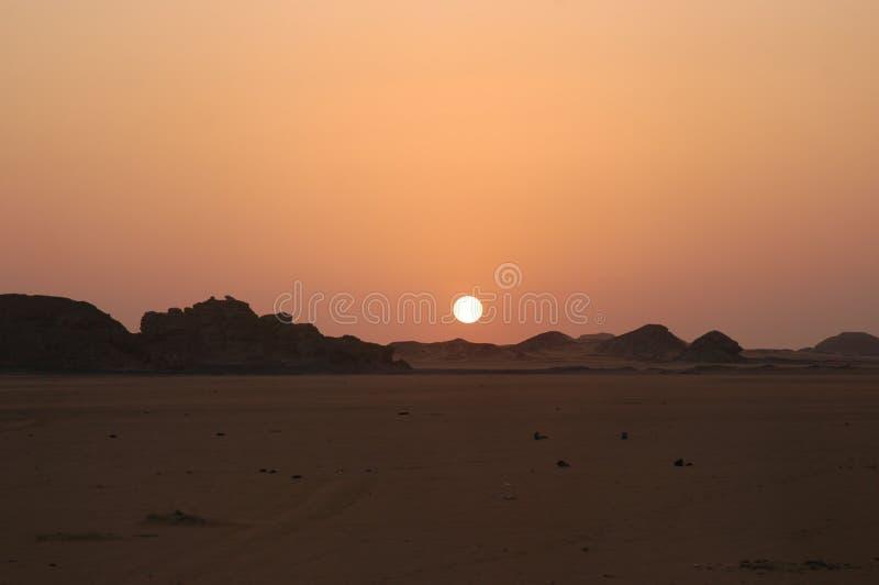Desert sun royalty free stock photography
