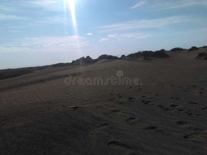 Desert and Sun stock image