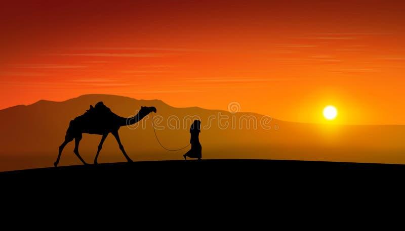 Desert Sunset royalty free illustration