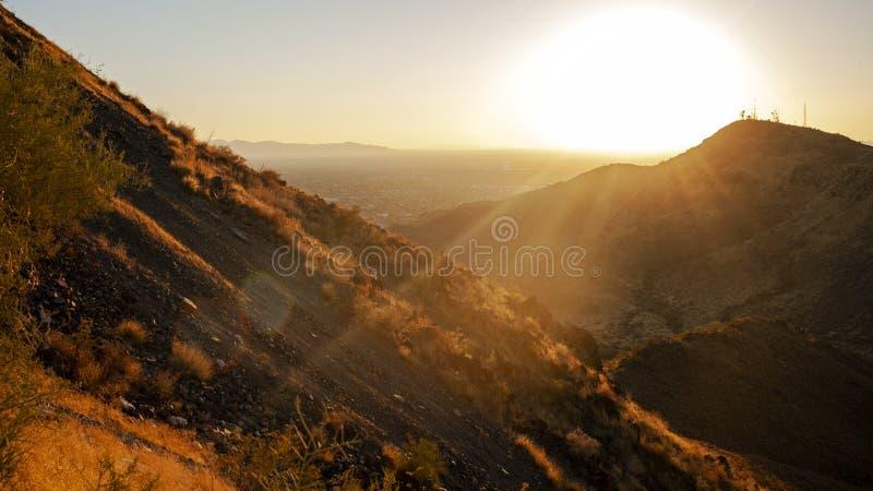 Desert sunset near Phoenix, Arizona royalty free stock image